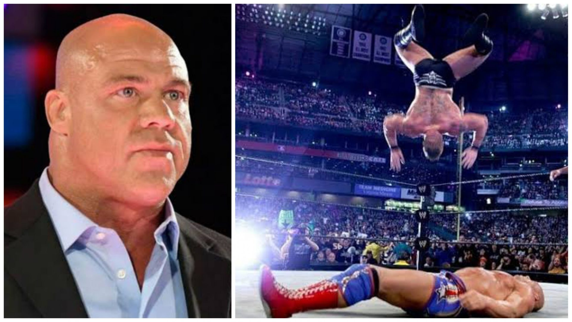 Kurt Angle thought Brock Lesnar was dead after botched Shooting Star Press at Wrestlemania 19 - THE SPORTS ROOM
