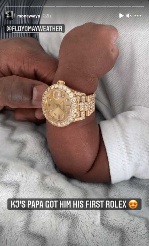 Generous Grandpa: Floyd Mayweather Jr gifts his grandson a Rolex! - THE SPORTS ROOM
