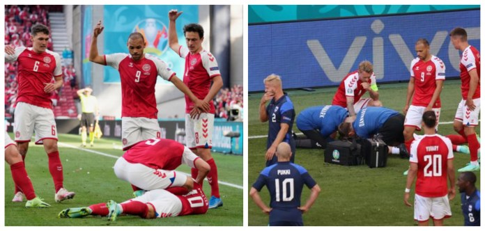 Denmark vs Finland suspended after Christian Eriksen collapses on field