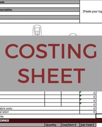Sportswear Inc. Costing Sheet Template