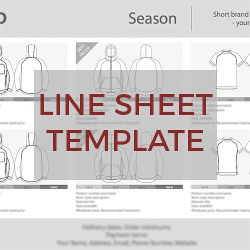 Sportswear Inc. Line Sheet Template