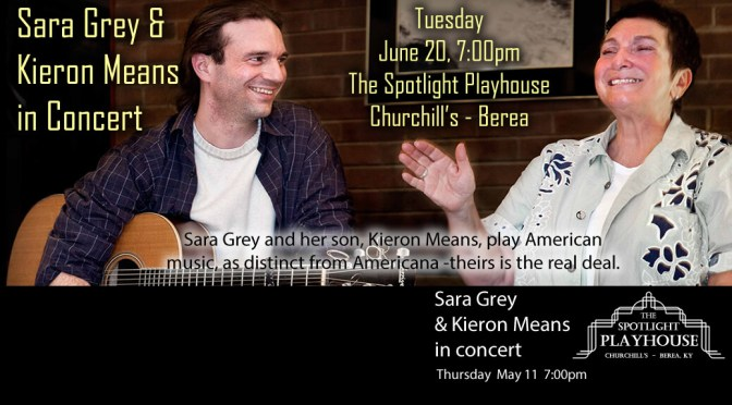 Sara Grey and Kieron Means in Concert