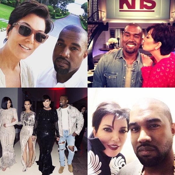 Kris Jenner Kanye West Donald Trump
