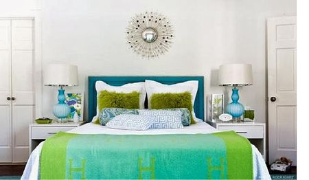 Analogous Color Schemes Are Failproof Green And Blue Bedroom