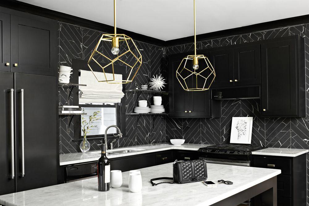 19 Marble Backsplash Ideas for Every Decor Taste on Black Countertop Backsplash  id=50904