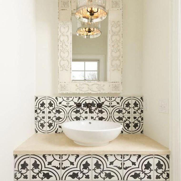 moroccan design floor tiles