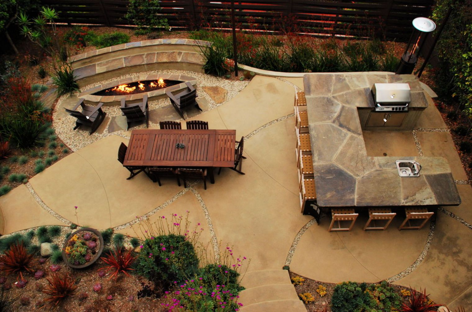 15 Beautiful Concrete Patio Ideas and Designs on Backyard Concrete Patio Designs  id=96377