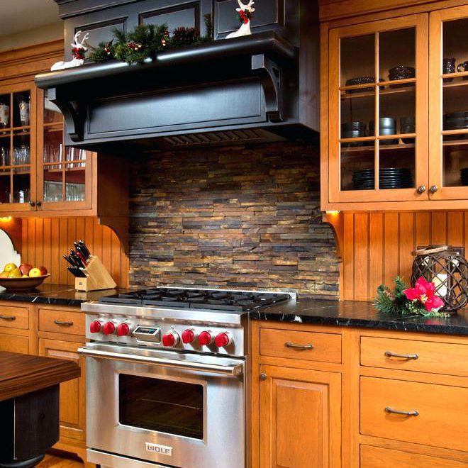stacked stone backsplashes for for kitchens