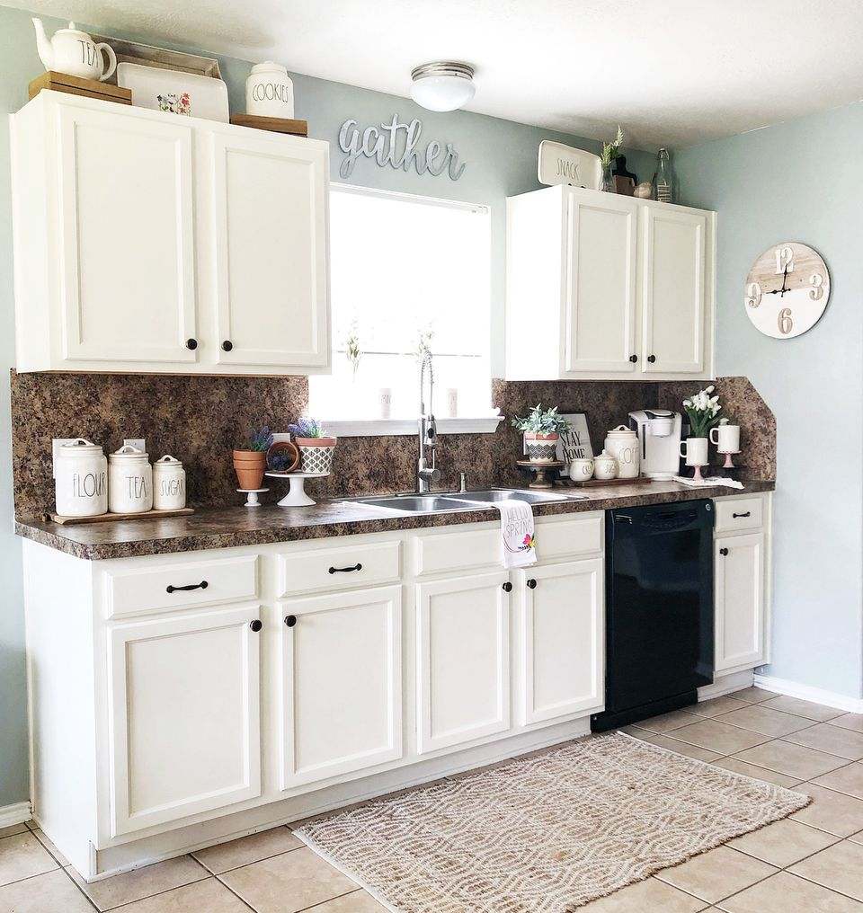 9 Ways to Decorate Above Your Kitchen Cabinets on How To Decorate A Kitchen Counter  id=71210