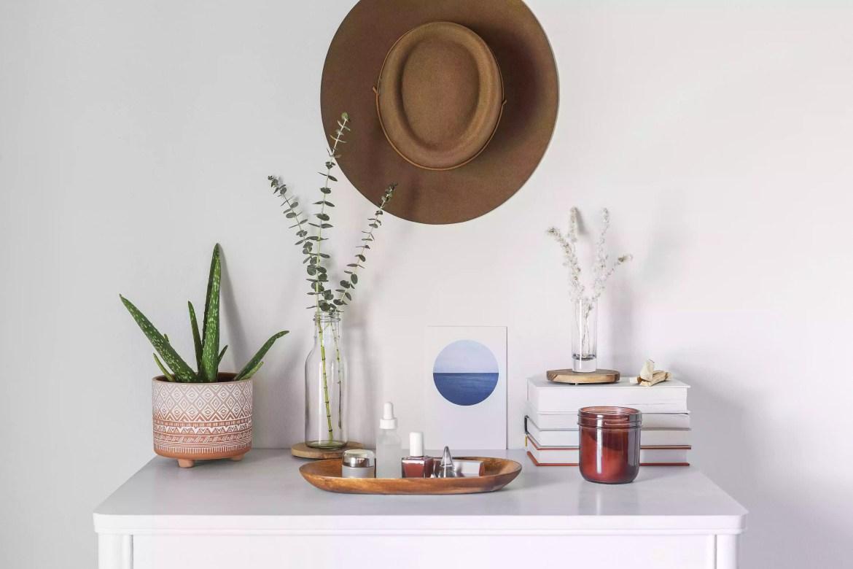 Organized, stylish dresser top