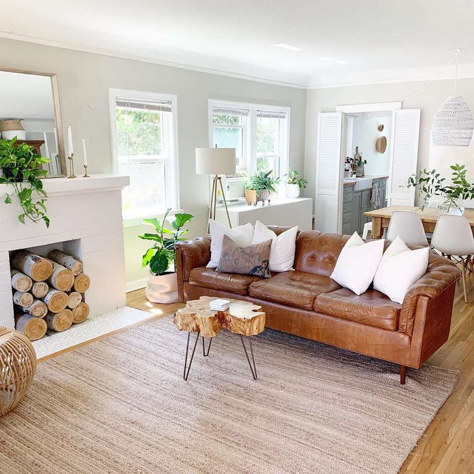 brown living rooms that prove it s a pretty hue on small laundry room paint ideas with brown furniture colors id=99154