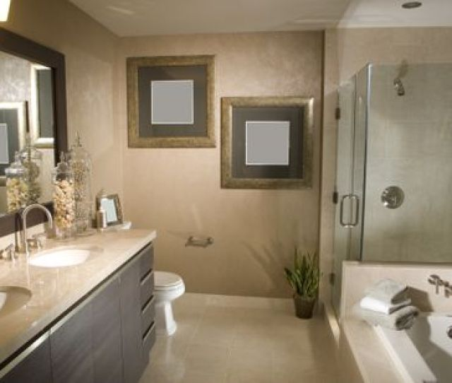 Remodeled Bathroom With Frameless Shower And Tub