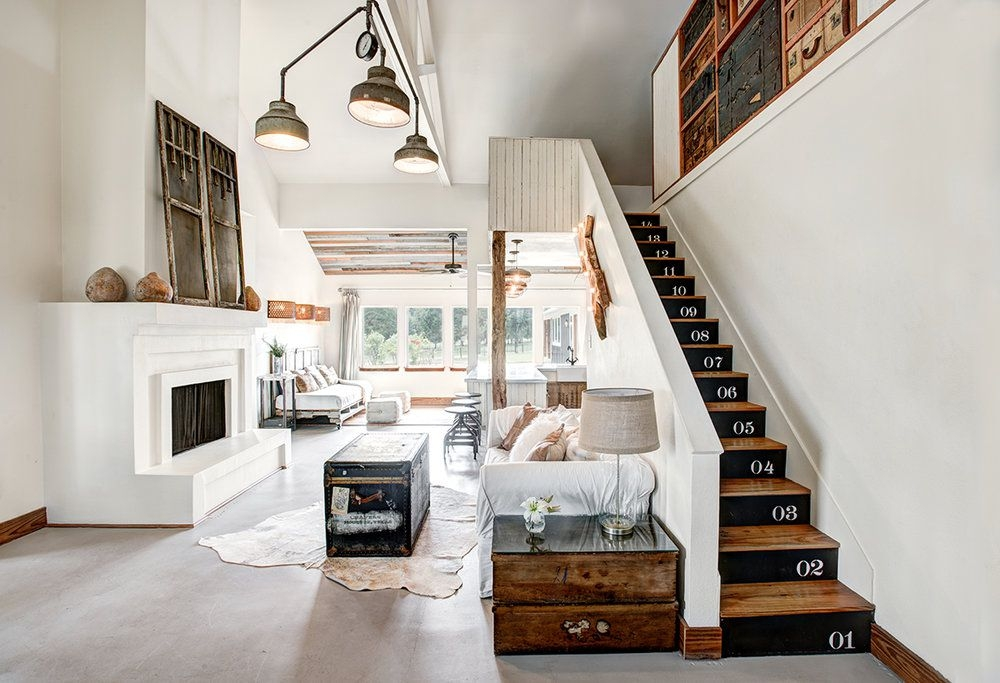 22 Gorgeous Painted Stair Ideas   Dark Wood And White Stairs   Light   Contrast   Brick Wall Dark Stain   Flooring   Carpet
