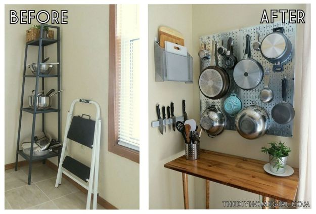 9 space-making storage hacks for small kitchens