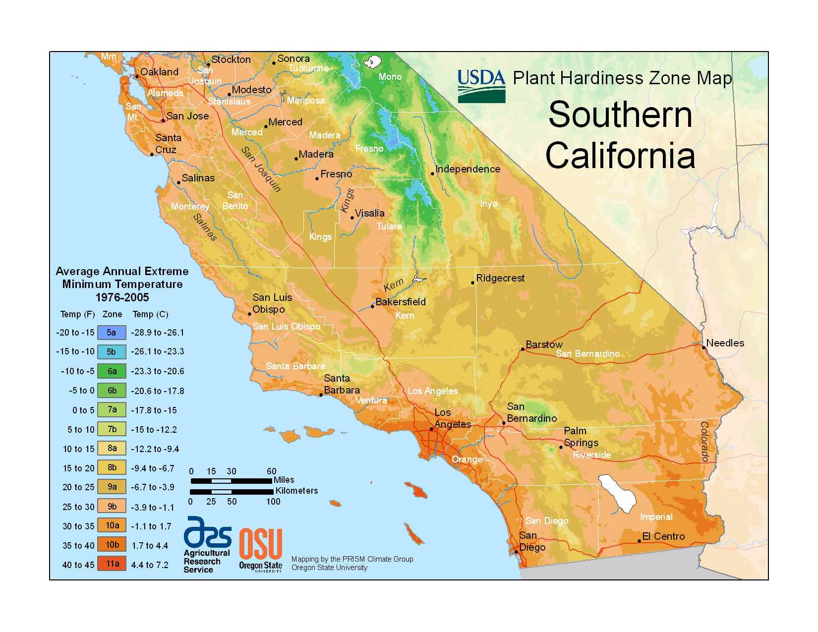 State Maps Of Usda Plant Hardiness Zones