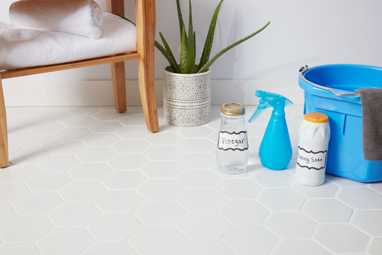 how to clean porcelain floor tiles