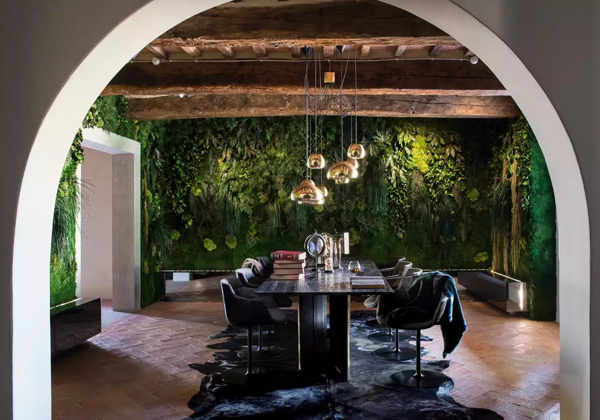 Moss Wall in a Private Home