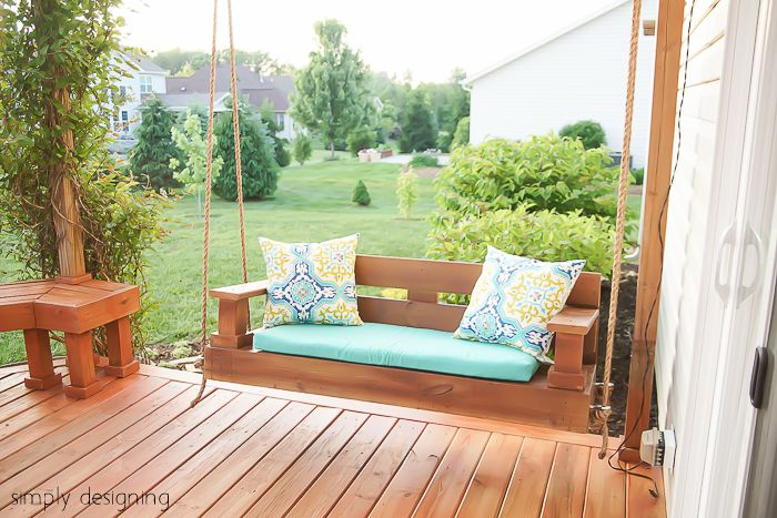 12 free porch swing plans to build at home