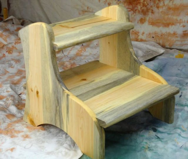A Wooden Two Step Stool