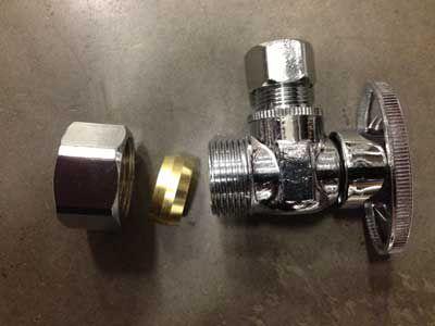 types of under sink shutoff valves