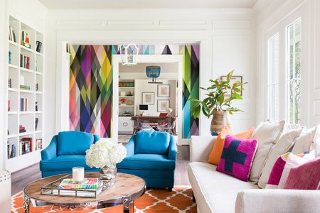 33 Home Decor Trends to Try in 2018 colorful geometric patterns