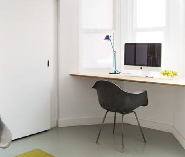 Corner Desk In Front Of Window