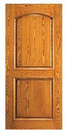 exterior oak finish door