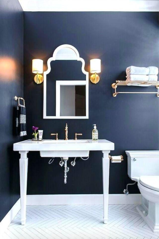10 navy blue bathroom ideas on blue paint bathroom ideas exterior id=70681