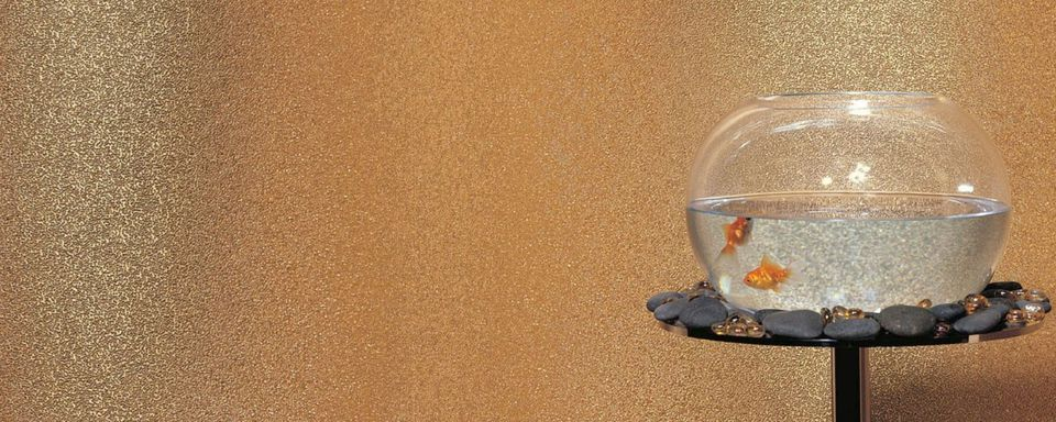 Glass Bead Metallic Look Wall Covering