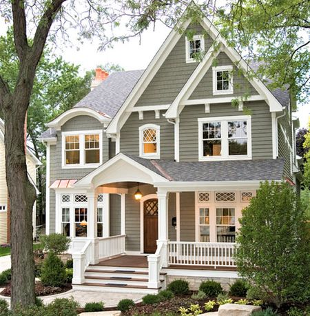 10 Inspiring Exterior House Paint Color Ideas Dark Gray Exterior House Color with White Trim