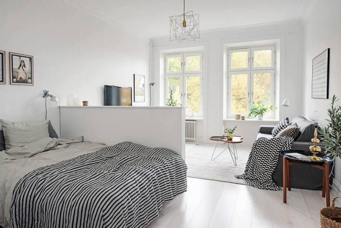 Bedroom In A Studio Apartment