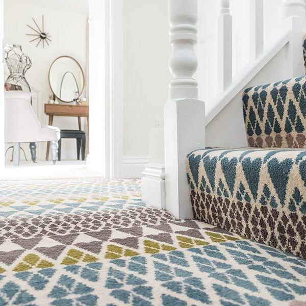 13 Best Carpet Trends For 2020   Antelope Carpet On Stairs   Stark   Patterned   Helios   Farmhouse   Foyer