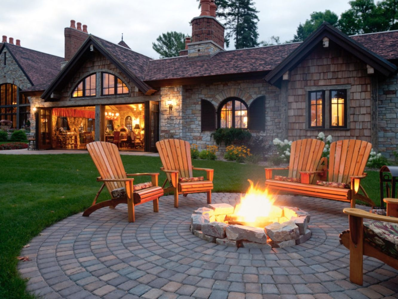 25 Great Patio Paver Design Ideas   Patio With Stairs From House   Concrete Slab   Simple   Back Yard   Composite Decking   Main Entrance Stamped Concrete Front