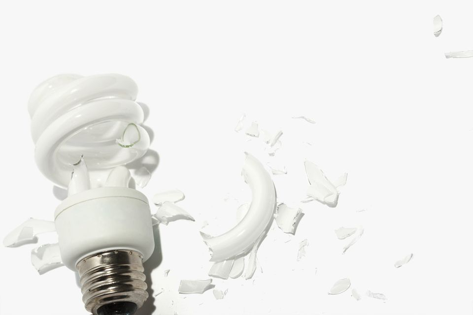 Broken Incandescent Light Bulb