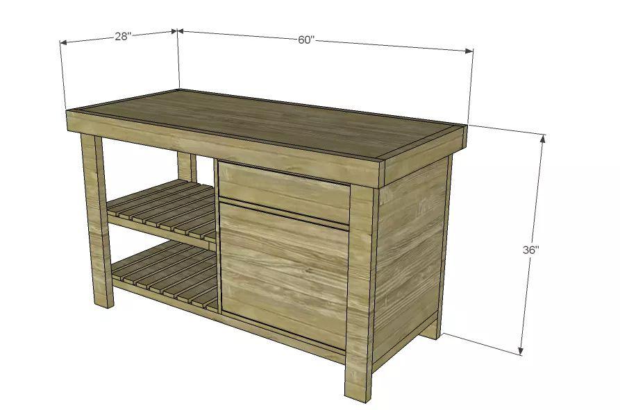 15 Free DIY Kitchen Island Plans