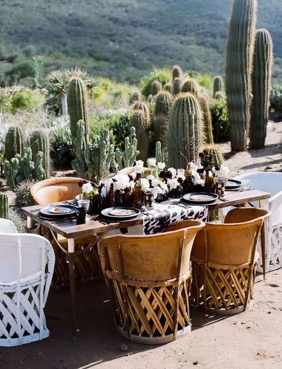Equipale Chairs at outdoor dining table