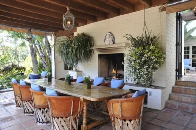 Equipale Chairs in patio dining set.