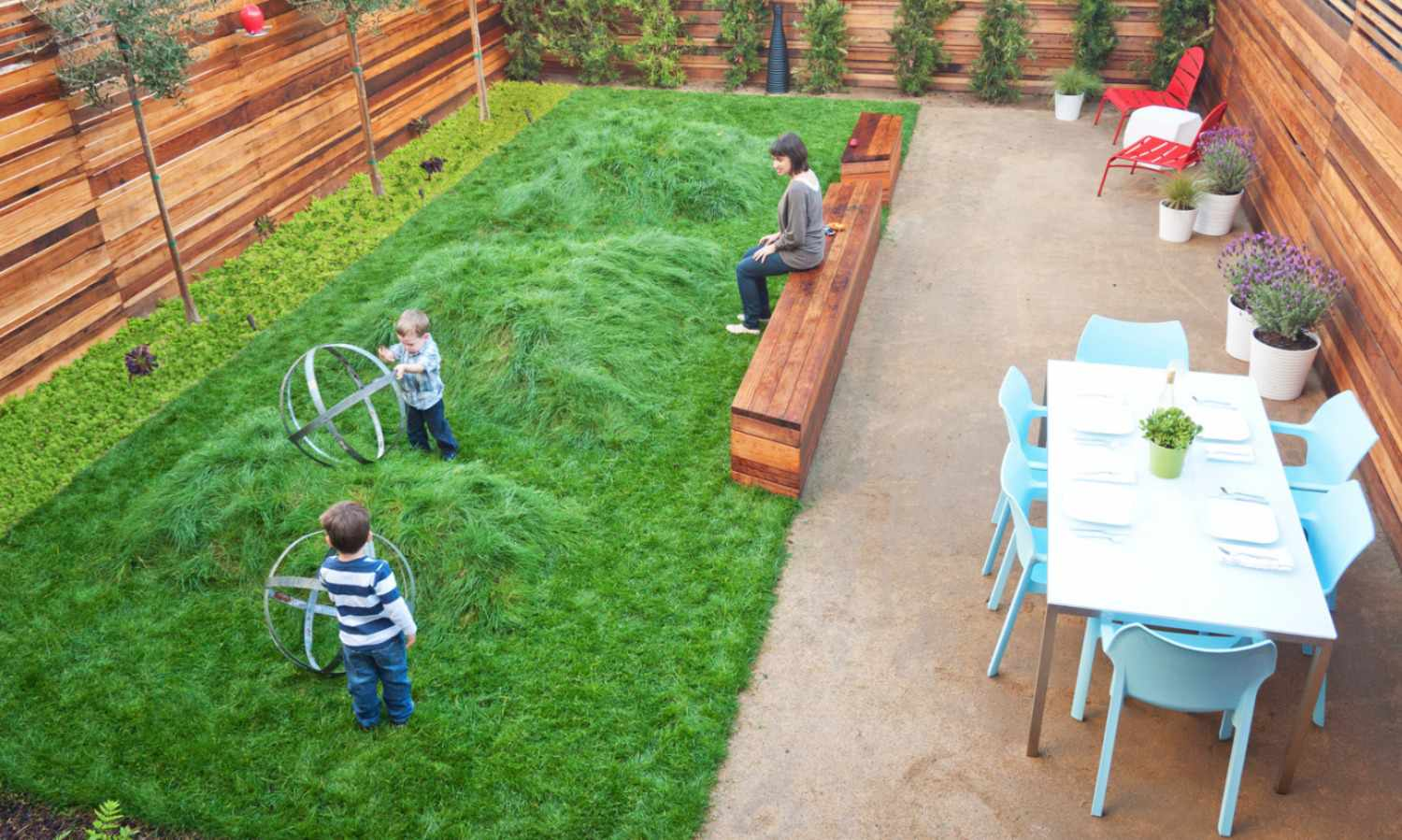 49 Backyard Landscaping Ideas to Inspire You on Patio And Grass Garden Ideas  id=73419