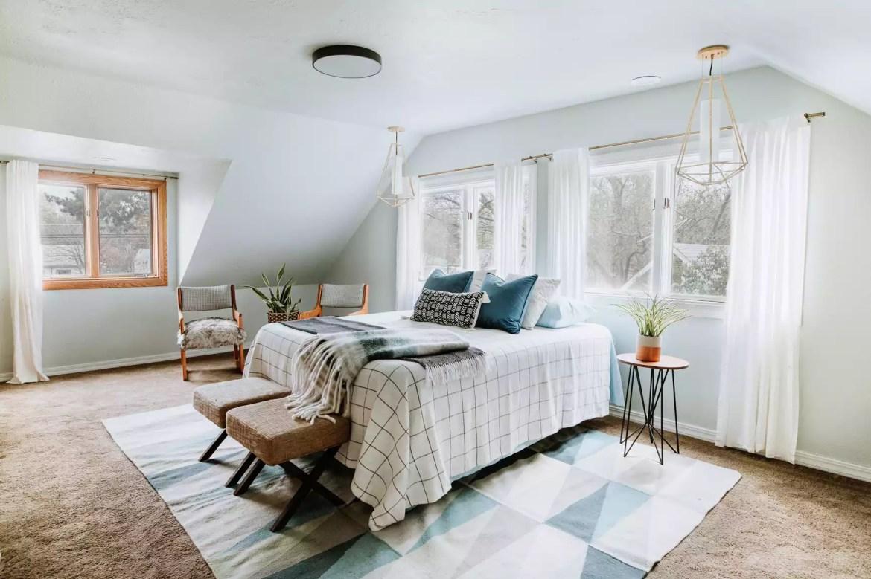 calm, cozy bedroom decor