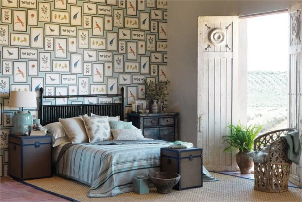 Botanical accent wall