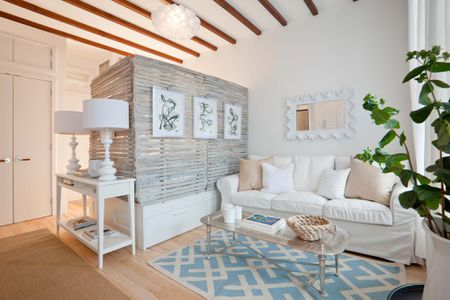 Add Character With A Bespoke Room Divider Modern Farmhouse Studio Apartment