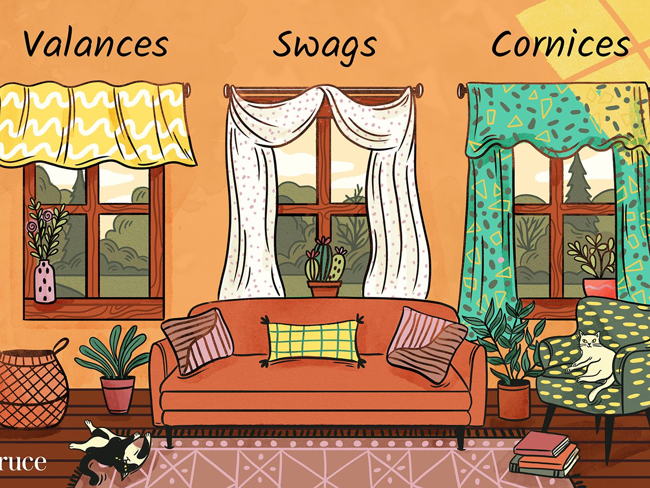 differences between valances swags