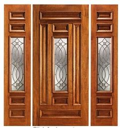 Entry Door With Side Panels