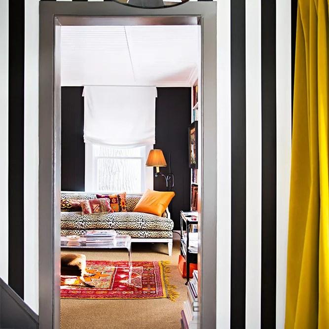 Striped Hallway Wallpaper