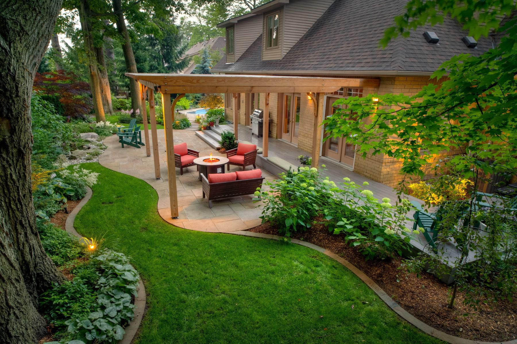 49 Backyard Landscaping Ideas to Inspire You on Backyard Lawn Designs id=49748