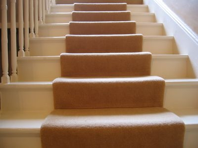 How To Install Carpet On Stairs   Cap And Band Carpet Stairs   Fun   Stair Landing   Upholstered   Office   Waterfall
