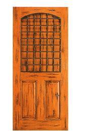 Antiqued Exterior Alder Wood Door