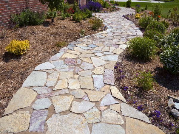 how to lay a flagstone patio