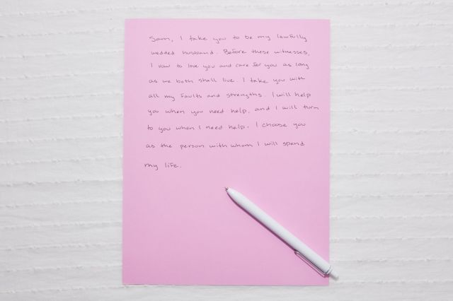 How to Write Wedding Vows and 8 Samples