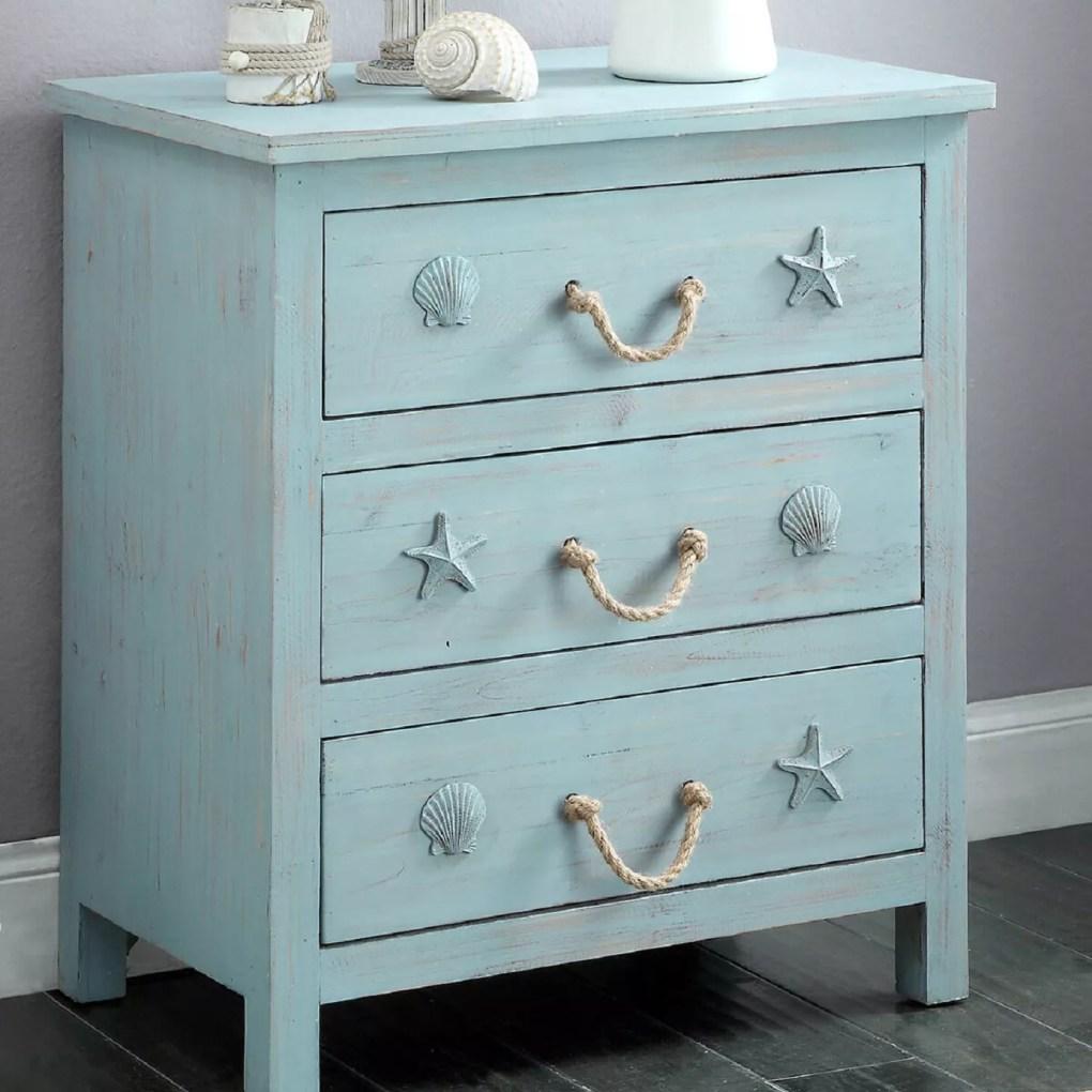 Dresser with seashell pulls